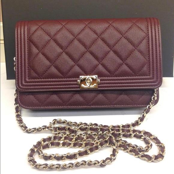 70c3a487ffcb BNIB chanel woc wallet on chain 💯 authentic